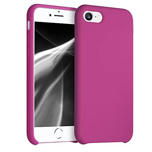 kwmobile Cover per Apple iPhone 7 8   SE (2020) - Cover Custodia in Silicone TPU - Back Case Protezione Cellulare Rosso Lampone