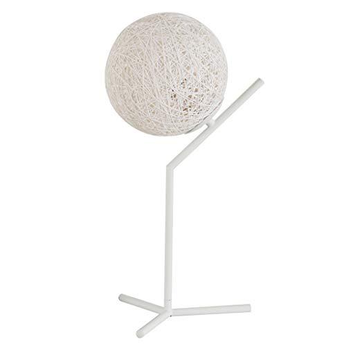 lámpara de mesita de noche Nordic simple lámpara de cabecera sala de estudio modernos lámpara de mesa lámpara de mesa creativa dormitorio romántico caliente regulable Personalidad cáñamo Bola Lámparas