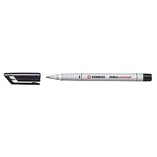 STABILO Permanent Universal Folienstift Overheadprojektor schwarz Marker (schwarz, weiß, Multi, Kunststoff weiß, fein, 0,7mm)