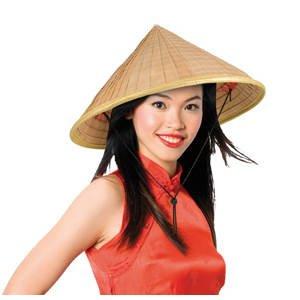 PARTY DISCOUNT ® Hut Asia in Bambusoptik, Einheitsgröße