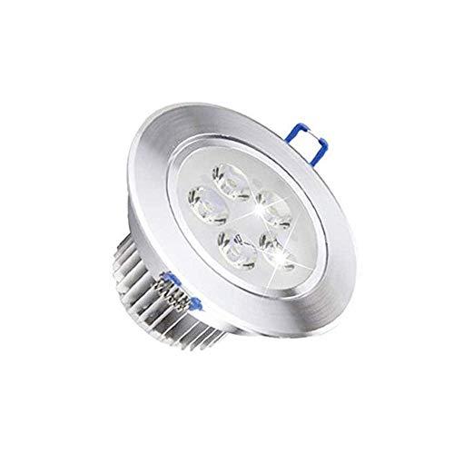 Lsmaa 5W inbouw plafondlampen IP42 badkamer spots voor plafond 90mm Cut-Out warm wit Downlights met converters AC110V-240V 2700K RA80 300LM vervangen 30W gloeilamp niet dimbaar [Energie Cla