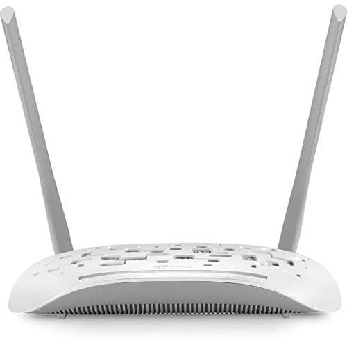 TP-Link TD-W8961N Modem Router ADSL2+, Wireless N300 Mbps, 4 Porte Fast Ethernet, Incluso Filtro ADSL/RJ11, Cavo DSL/RJ45, Cavo Ethernet, Dispositivo 3-in-1, Modem/Router/Access Point