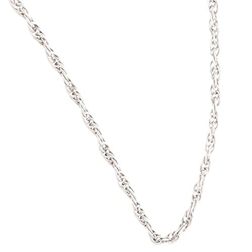 Jollys Jewellers Cadena de plata de ley de 41,9 cm con hélice/collar (1 mm de ancho) para mujer