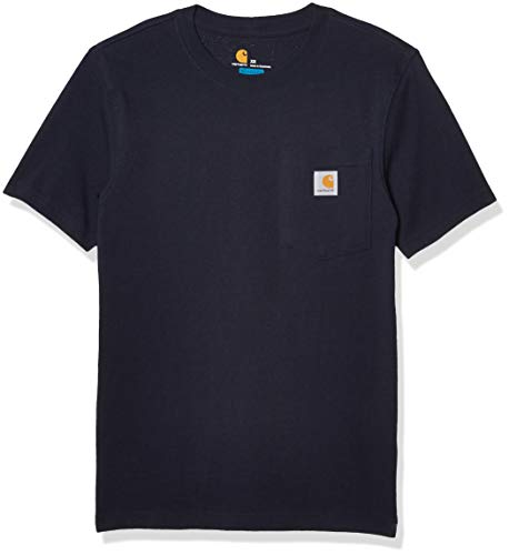 Carhartt Workwear Pocket Short-Sleeve T-Shirt, Navy, L Uomo