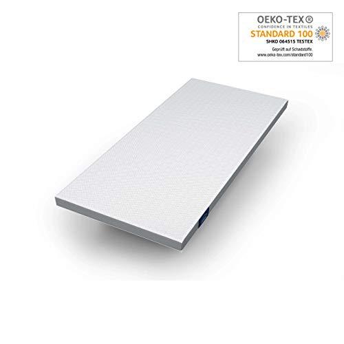 Genius Eazzzy Topper (Größe 90 x 200 x 7 cm) als Matratzenauflage für Matratzen & Boxspringbetten | Viskoelastischer Matratzentopper geeignet für Allergiker (weitere Größen erhältlich)