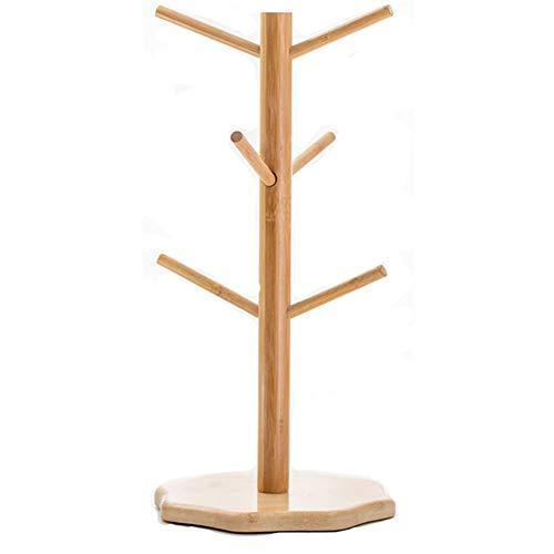 ASR Estantería de madera de bambú para guardar joyas, escurridor y escurridor. Expositor de forma industrial, para biberones, cubiertos, tetinas y vasos (B)