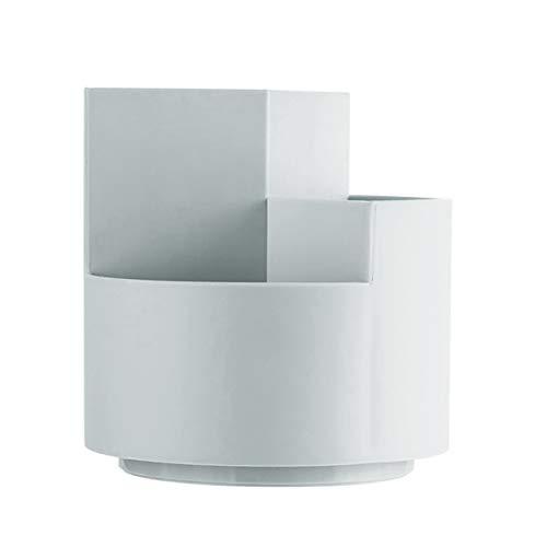 Tisch Organizer Stifteköcher Stiftehalter Schreibtisch Platzsparend 360° Drehung und 3 Fächer Aufbewahrungsbox, für Zuhause, Büro und Schule usw (Grau)