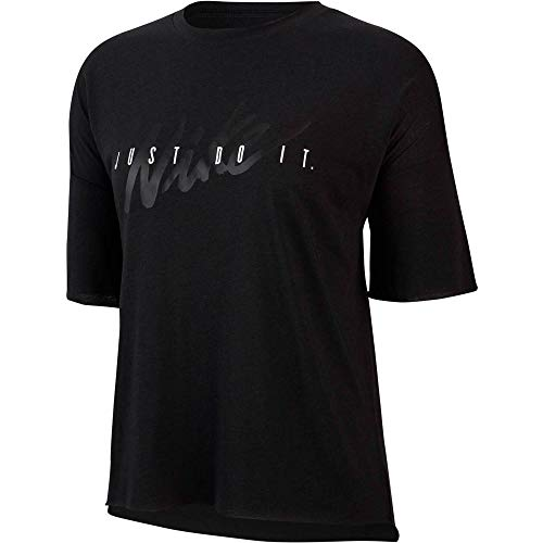 Nike Dry T-Shirt GRX HO19 Femme, Black/White, FR : M (Taille Fabricant : M)
