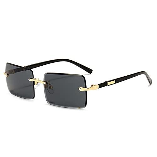 LUOXUEFEI Gafas De Sol Gafas De Sol Rectangulares Hombres Gafas De Sol Sin Montura Mujeres Gafas De Conducción Gafas