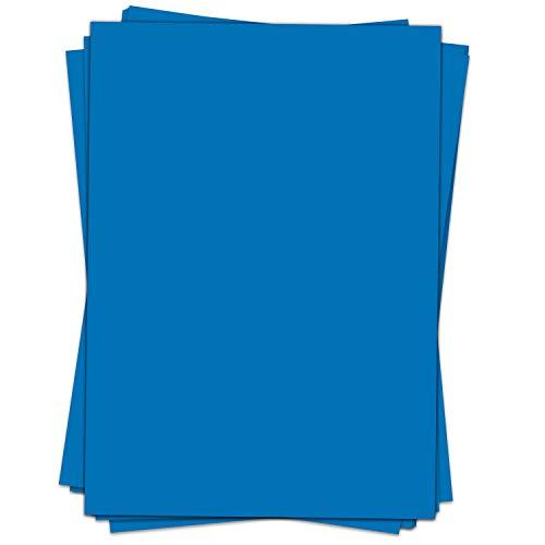 50 Blatt Briefpapier (A4)   einfarbig Blau   Motivpapier   edles Design Papier   beidseitig bedruckt   Bastelpapier   90 g/m²