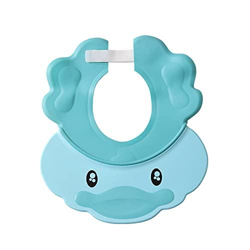 MUYANDZ Sombrero de Sol para niños 3 en 1 Diseño Bebé Protección de la Oreja Casera de Ducha Ajustable bebé champú Agua de Entrando Ojos de los niños Cap Baby Sun Hat (Color : Blue)