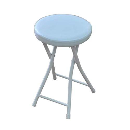 GWFVA Tragbarer Klappstuhl, runder kompakter Hochstuhl, Belastung: 220 lbs, Stahlrahmen PU-Sitz Dick klappbarer Frühstücksküchen-Thekenstuhl, Sitzhöhe: 49 cm, 61 cm