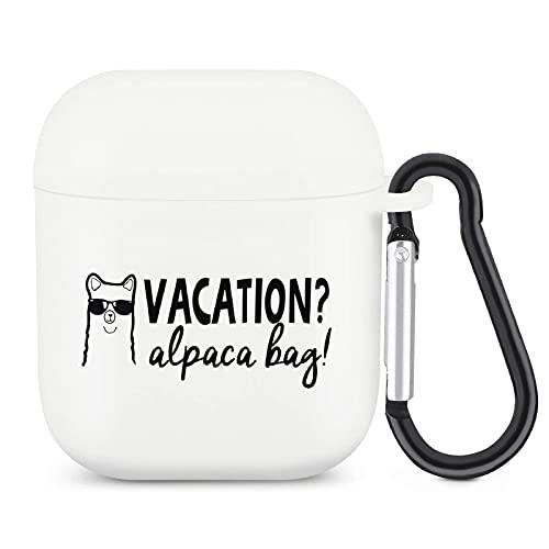 Vacation Alpaca Bag Airpods Case z brelokiem Pełna ochronna silikonowa osłona akcesoriów Airpods kompatybilna z Apple Airpods 1 i 2
