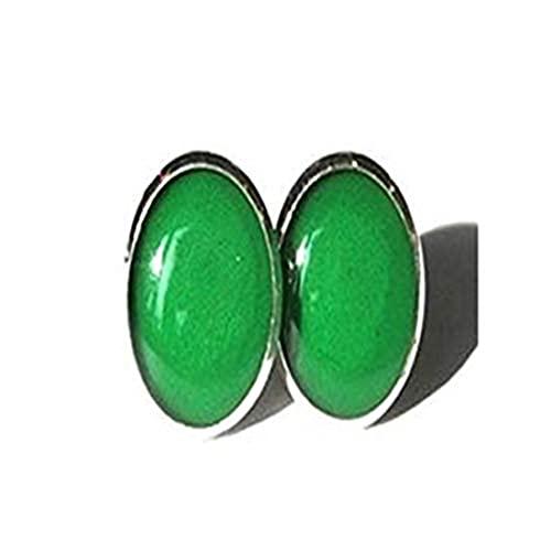Youkeshan Pendientes verdes esmeralda, pendientes verdes, pendientes verdes, pendientes verdes