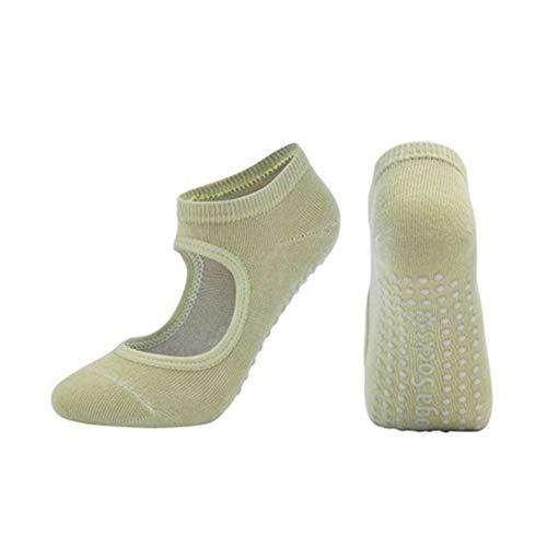 QWERBAM Las Mujeres de Pilates Calcetines Antideslizante y Transpirable sin Respaldo Yoga Calcetines del Tobillo señoras de Ballet de la Danza Deportes Calcetines for Fitness Gym