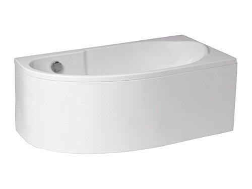 Aqualuxbad Badewanne | Wanne 140 x 70 cm | Rechts inkl. Wannenfuß und Ablaufgarnitur, Schürze:mit Schürze