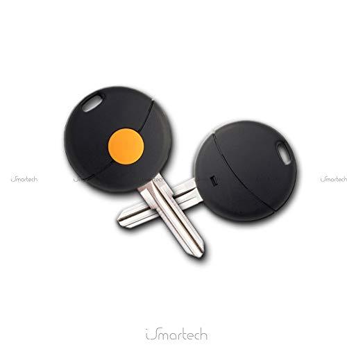 Cover Sleutelbehuizing afstandsbediening zwart 1 toetsen en lemmet Vergine-messen Oranje Compatibel met verschillende automodellen zonder logo elektronica en transponder