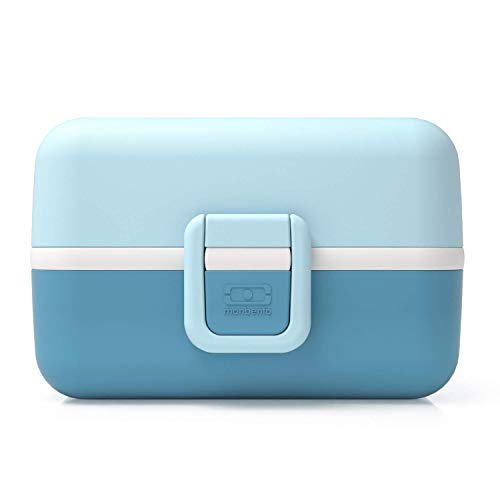 monbento MB Safe Blue Iceberg Children's Lunch Box with Divider Bento Box Kids with Compartments Individual Design Snack Box