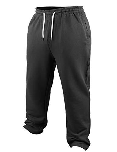 Herren Bodybuilding Jogginghose Aktiv Ausgebeult Hose Fitnessstudio Sport Fitness Trousers Schwarz X-Large