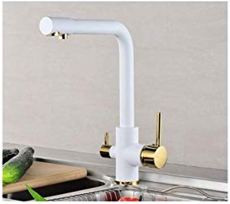 Küchenarmaturen Trinkwasserfilter Wasserhahn Deck montiert Mischbatterie 360-Grad-Rotation mit Wasseraufbereitung Features Wasserhhne Küche