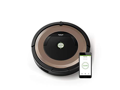 iRobot Roomba 895 Saugroboter (hohe Reinigungsleistung, keine Verhedderungen und mit Dirt Detect, reinigt alle Hartböden und Teppiche, ideal bei Tierhaaren, WLAN-fähig) kupfer*