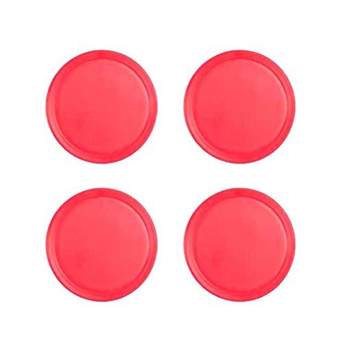 Toyvian Air Hockey Pushers Ersatzteil für Goalies Header Kit Air Hockey Equipment Accessories 4pcs 50 mm (Rot)