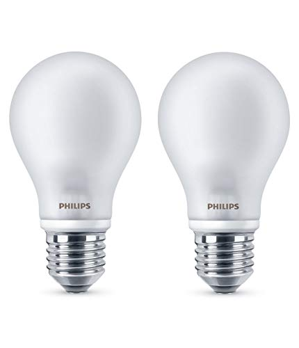Philips Lighting Bombilla LEDclassic E27, 40 W, Cálida, Pack de 2, 2