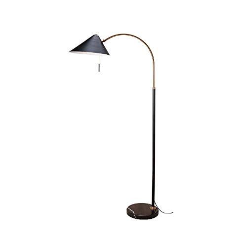 LY88 licht staande lamp, antieke messing vissen leeslampen vloer staande hoge lampen voor woonkamer 0715P kleur: wit