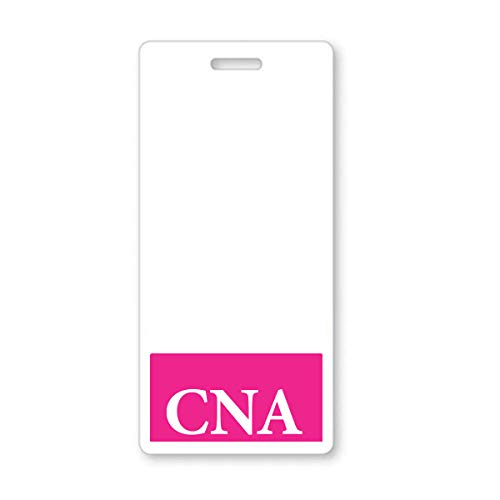 CNA Badge Buddy - Heavy Duty Vertical Badge Buddies for Certified Nursing Assistants - Spill & Tear Proof Cards - 2 Sided USA Printed Quick Role Identifier ID Tag Backer by Specialist ID