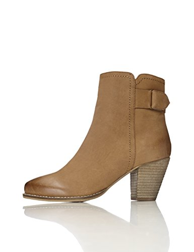 find. Bottines à Talons Rainurés Femme, Marron (Tan), 40 EU