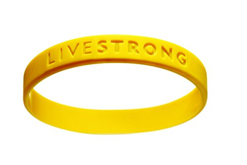 XXL Original Livestrong Armband incl. 1$ Lance Armstrong Krebshilfe XXL Größe 230 mm