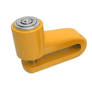Westt Lock - Candado Moto, candado Bicicleta, candado Patinete electrico antirrobo con Cerradura Seguridad para Disco de Freno en Moto, Bicicleta, Scooter, Quad y Bici- Amarillo - Yellow