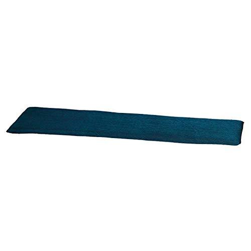 Madison kussens Coussin pour banc en velours Bleu 120 cm