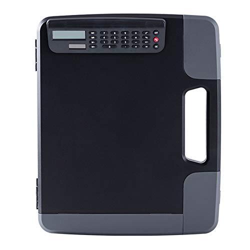 JVSISM Carpeta A4 con Calculadora Caja de Archivo A4 Caja de Almacenamiento de Carpetas Comerciales Gerente Calculadora de Conferencias Papelería de Oficina Escolar