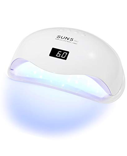 UV LED Nail Lamp 178W, Professional Nail Dryer Machine, Best Gel UV LED Nail Lamp for Fingernail & Toenail Gel Based Polishes – Portable Nail Curing Light with 42pcs LEDs, 4 Timer Settings by OVLUX
