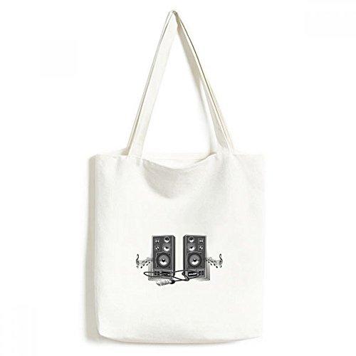 DIYthinker Lied-Musik-Lautsprecher-Box Muster Environmentally Waschbar Einkaufs-Tasche Fertigkeit-Geschenk 33 * 40cm Mehrfarbig