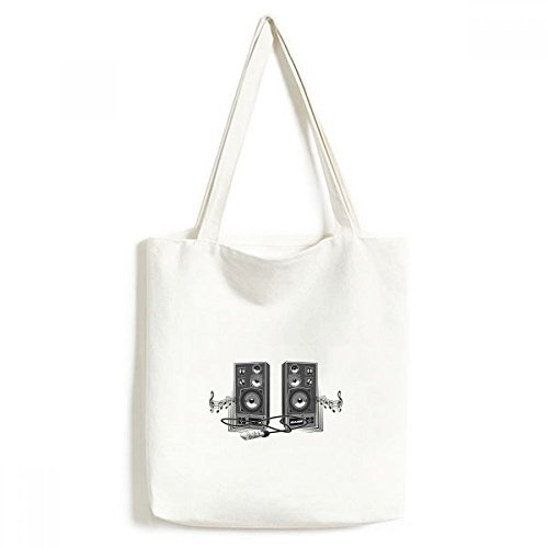 DIYthinker Song Muziek luidspreker Box Patroon Milieuwasbaar Winkelen Tote Canvas Tas Craft Gift