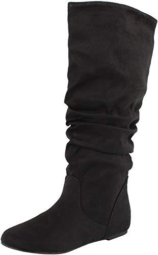 Soda Womens Zulu-S Boot,Zuluuv2.0 Black Suede 6.5