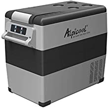 Alpicool CF55 Portable Refrigerator 12 Volt Car Freezer 58 Quart(55 Liter) Vehicle, Car, Truck, RV, Boat, Mini fridge freezer for Driving, Travel, Fishing, Outdoor -4°F to 68°F