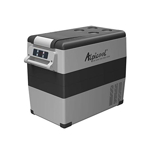 Alpicool CF55 Portable Refrigerator 12 Volt Car Freezer 58 Quart(55 Liter) Vehicle, Car, Truck, RV, Boat, Mini fridge freezer for Driving, Travel, Fishing, Outdoor -4°F to 68°F