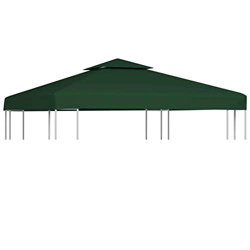 WENXIA  Gazebo Top Cover 3M x 3M Water-proof Gazebo Cover Canopy Replacement 310 g/m² Outdoor Pavilion Top, Green