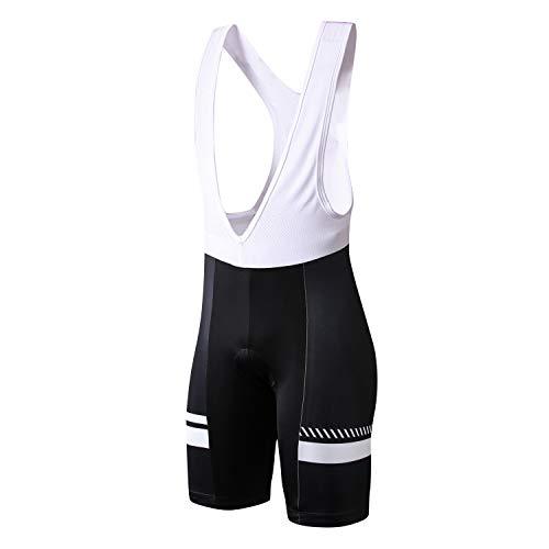 INBIKE Salopette Corta Traspirante da Ciclismo con Fondello Pantaloncini con Bretelle Uomo Asciugatura Rapida Estivi,XL