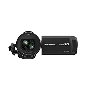 Panasonic HC-V808EG-K Full HD Camcorder (LEICA DICOMAR Objektiv, Full HD 50p Video, 24x opt. Zoom, opt. Bildstabilisator, WiFi, Wireless Twin Camera)