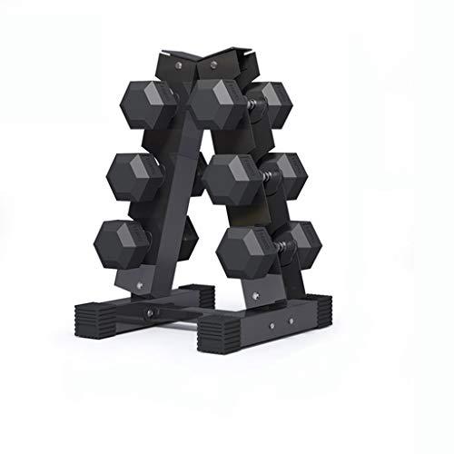 QIFFIY Hantelablage Hantelablage Hantel Vertikal Hantel Gewicht Platzsparend Hantel Storage Rack for Home Gym tägliche Workout Rackwagen langhantel (Color : Black(3-Tier))