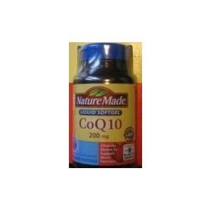 Nature Made CoQ10 Coenzyme Q10 200 mg 120 Softgels each (pack of 2)