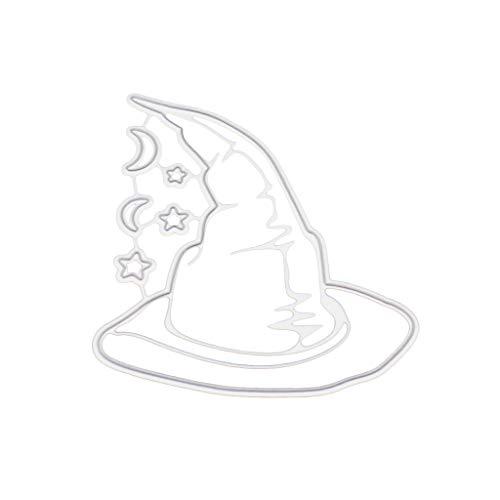 Kcibyvx Stanzmaschine Stanzschablone, Halloween-Hut Scrapbooking Stanzschablonen Stanzformen Prägeschablonen Papier Handwerk Deko Festival Weihnachten Geburtstag Karten Geschenk
