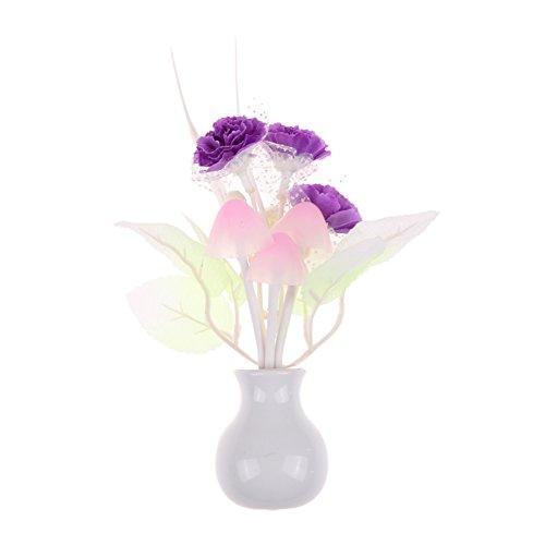 AEdiea ロマンチック カラフル センサー LED キノコナイト ライト ウォール ランプ 家 装飾