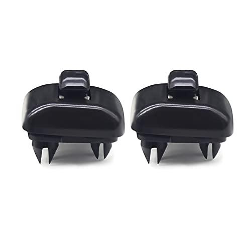 HEQINGQING 2 PCS Car Sun Visor Clip Indoor Sunshade Hook Soporte de Clip Ajuste para Audi A1 A3 A4 A5 Q3 Q5 8E0 857562 A7 B6 B7 B8 S4 S5 (Color Name : Black)