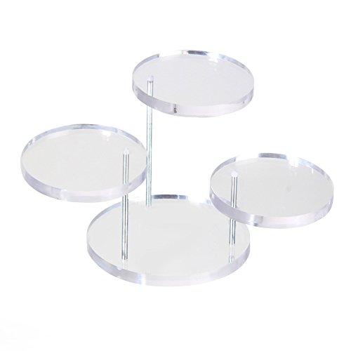 Preisvergleich Produktbild Acryl Schmuck Ohrring Ring Display Halter Rack für Shop oder Schminktisch Organisieren
