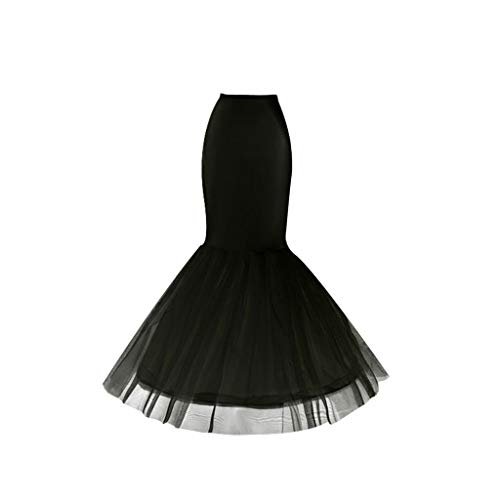 JERKKY Petticoat 1 Stuk Bruidsjurk Fishtail Rok Ondersteuning Petticoat Bruid Vrouwen Prom Bag Hip Slip Rokken Liner Lange Stijl Zwart